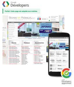 Le Site Stores-et-Rideaux devient certifié Google Mobile !