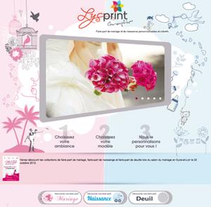 Relooking du site web Lysprint