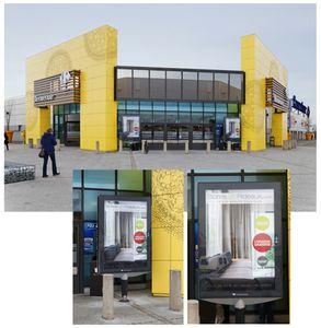 Stores-et-Rideaux s'affiche chez Carrefour Chartres